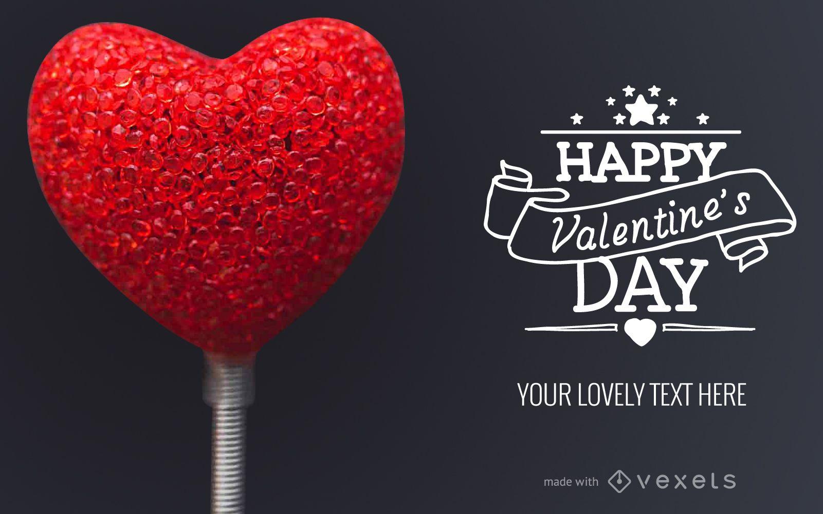 Valentine's Day card design maker