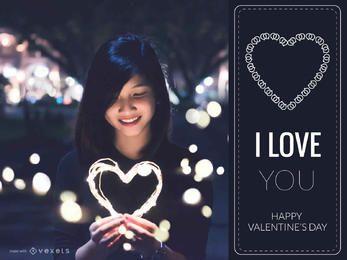 fabricante de la tarjeta del día de San Valentín