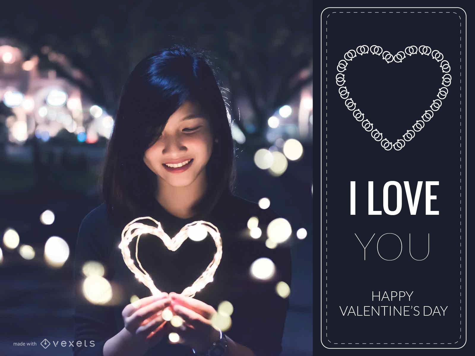 Valentines Day card design maker Editable design – Valentines Day Card Maker