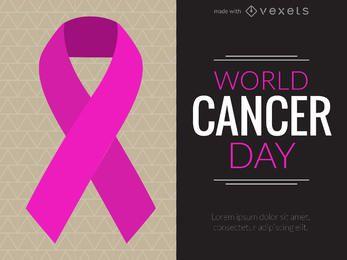 Fabricante de design do Dia Mundial do Câncer