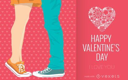 máquina de cartão ilustrados dia dos Namorados