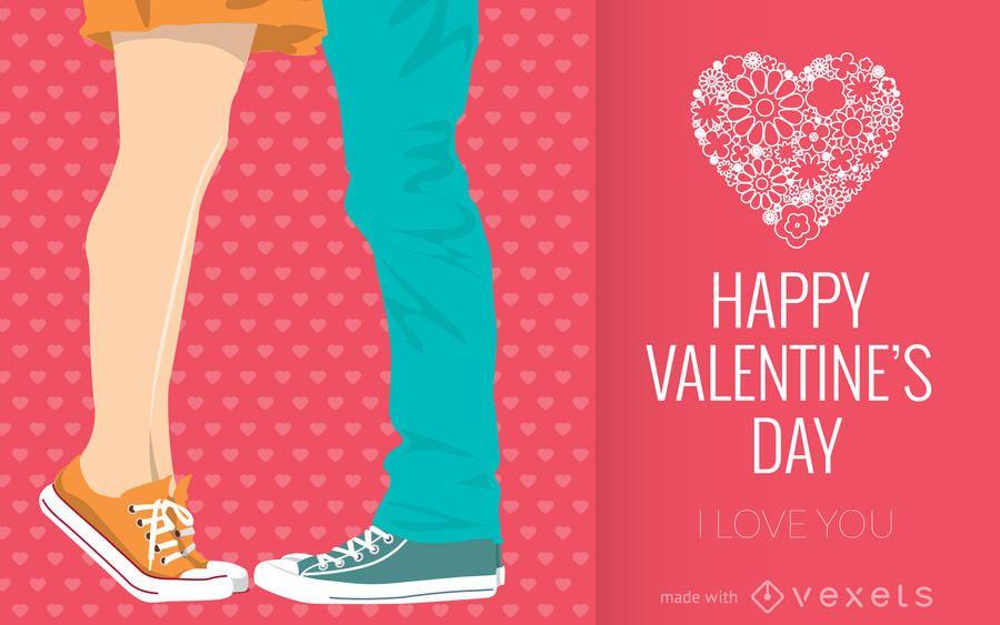 Ilustrado fabricante de cartão de dia dos namorados