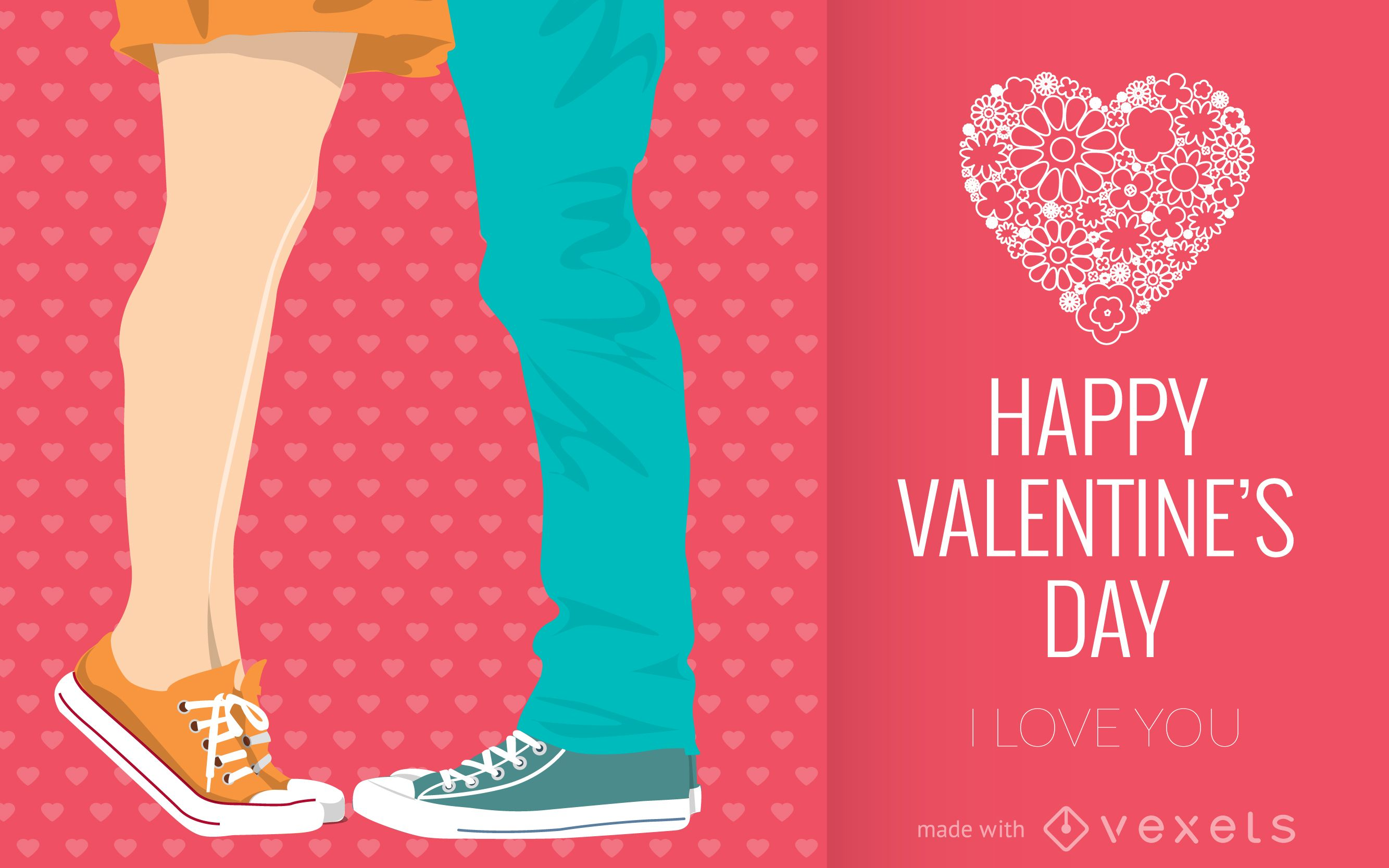 Illustrated Valentine's Day card maker