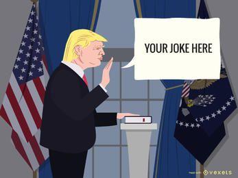 Donald Trump generador de bromas