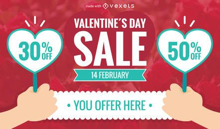 Valentine's Day sale banner maker