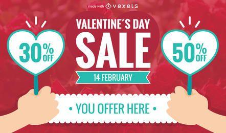 Valentine's Day sale banner maker