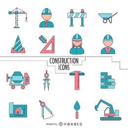 colección de iconos de la construcción