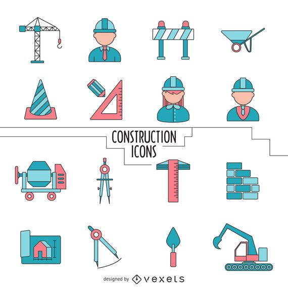 Construction icons collection