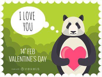 Fabricante de tarjetas del día de San Valentín con animales lindos