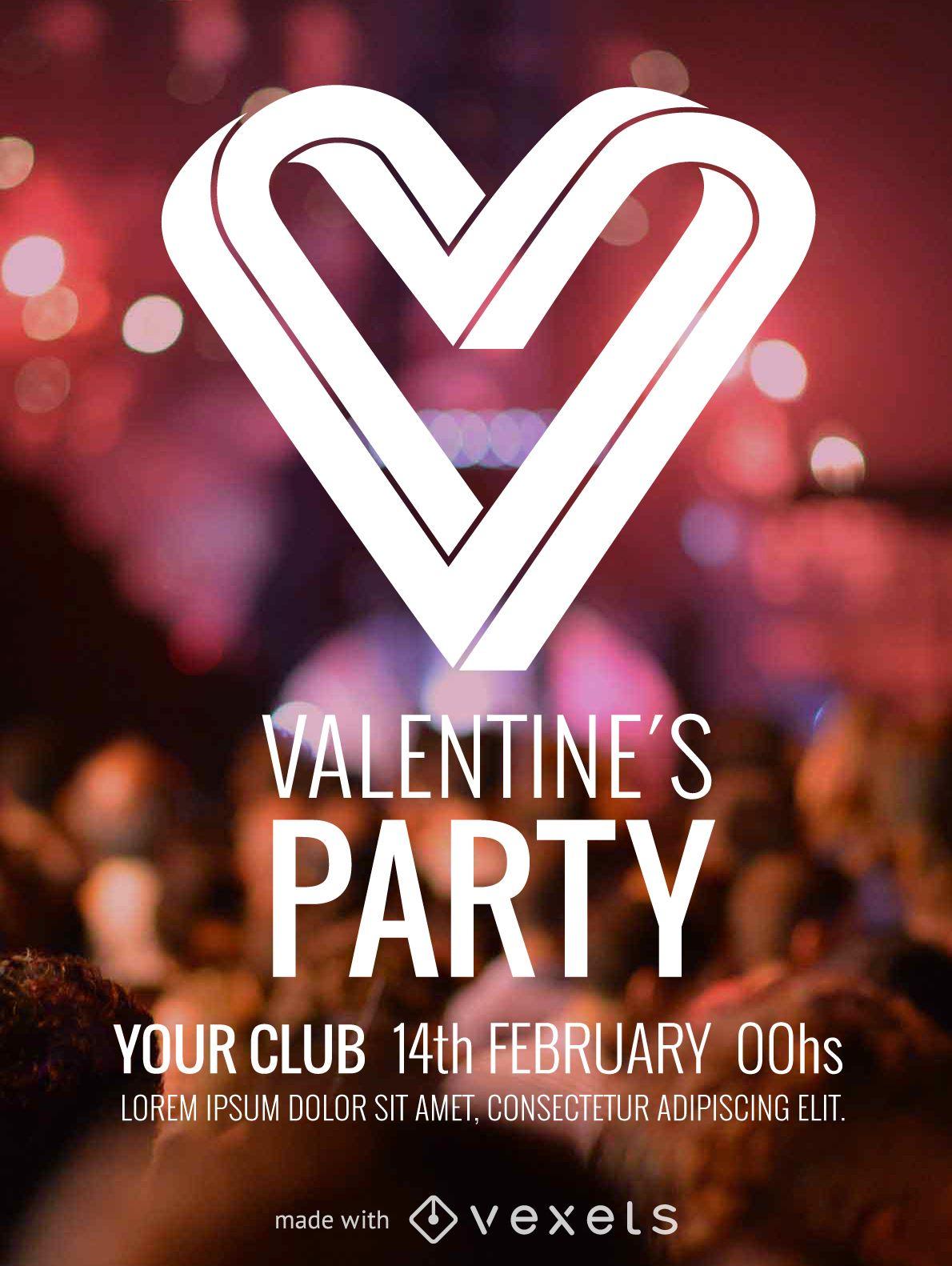 valentine s day flyer maker editable design