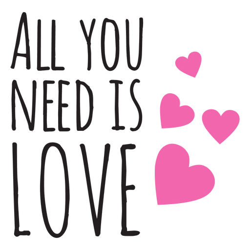 All you need is love wedding phrse Transparent PNG