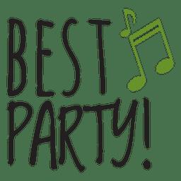 Beste Party Hochzeitssatz