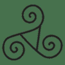 Celtic triskelion neo paganismo símbolo