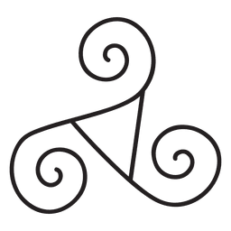 Keltisches Triskelion-Neo-Paganism-Symbol