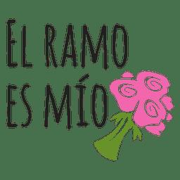 El ramo es mio espanhol casamento frase