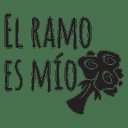 Citação de casamento Espanhol mio El ramo es