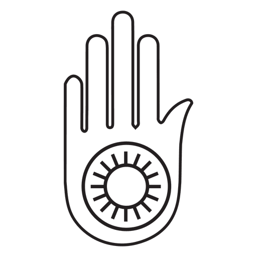 Jainism ahimsa hand - Transparent PNG & SVG vector