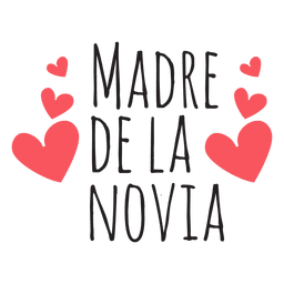 Madre de la novia wedding phrase