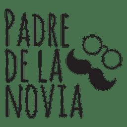 Padre de la novia casamento espanhol frase bigode óculos noiva father.svg