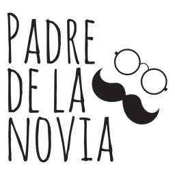 Padre de la novia wedding spanish phrase mustache glasses bride father.svg