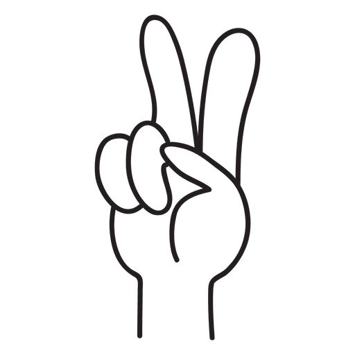 Peace hand sign Transparent PNG