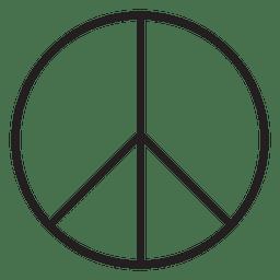 símbolo de signo de la paz