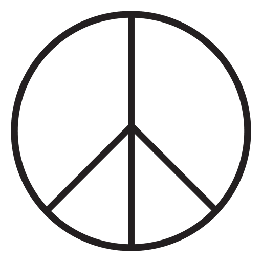 Peace sign symbol Transparent PNG