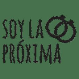 Soy la proxima espanhol casamento frase