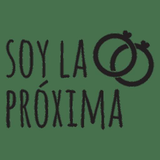 Soy la proxima espanhol casamento frase Transparent PNG