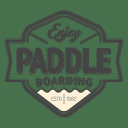 Badge hipster label paddling