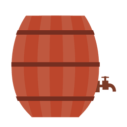 Beer barrel illustration