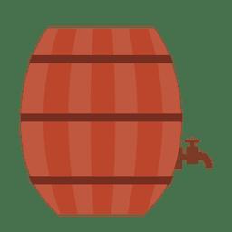 Ilustración de barril de cerveza