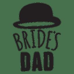 Braut Vater Hochzeit Satz
