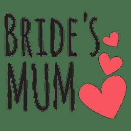 Novia cita de la boda de la mamá