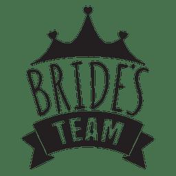 Expressão do casamento da equipe da noiva