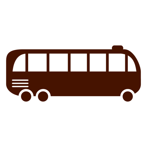 Bus transport icon silhouette Transparent PNG