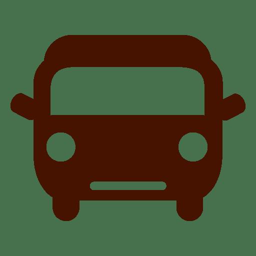 Icono de transporte de bus de coche Transparent PNG
