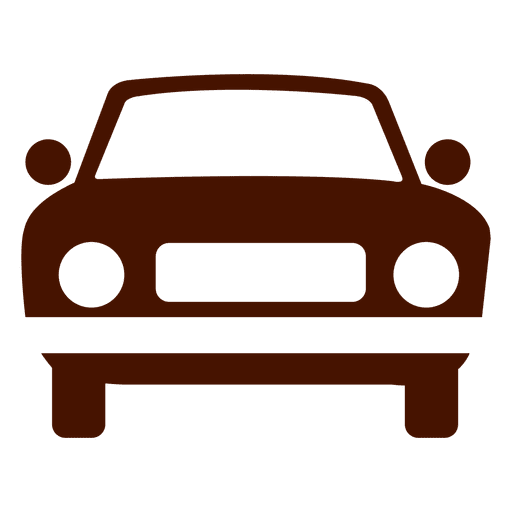 Car transport icon silhouette Transparent PNG