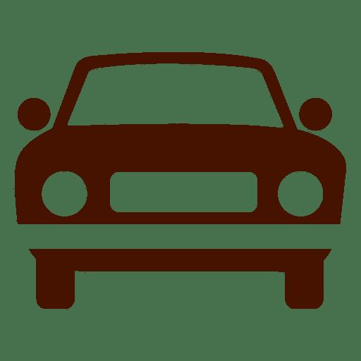 Silueta de icono de transporte de coche Transparent PNG