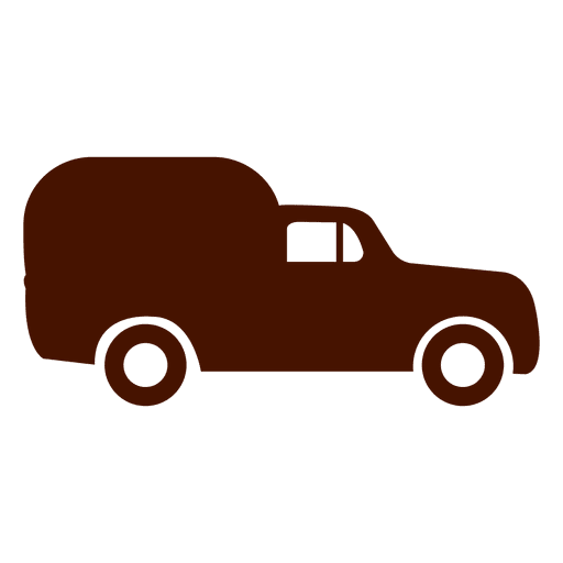 Van Car Transport Icon Silhouette