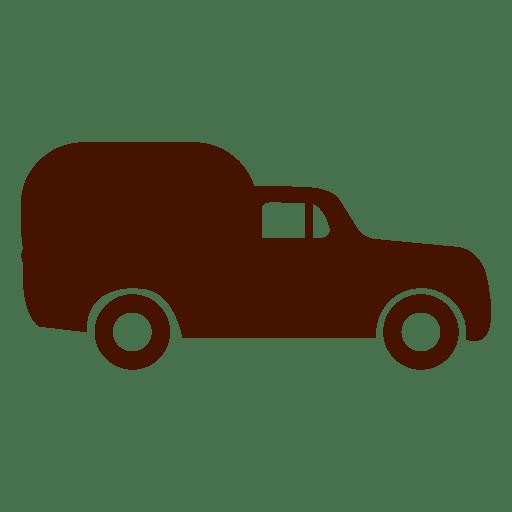 Van car transport icon silhouette