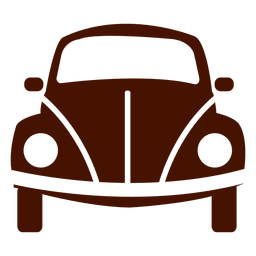 Icono de transporte de la vista frontal del coche