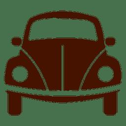 Icono de transporte de vista frontal de coche