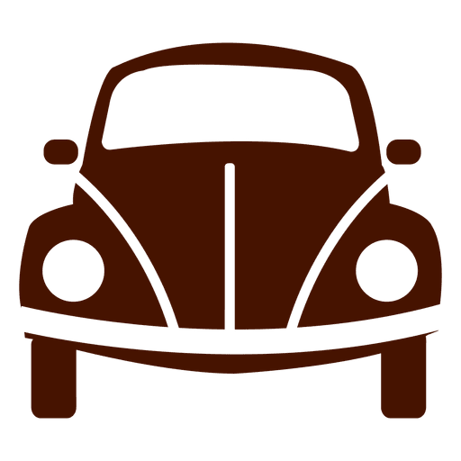 Icono de transporte de la vista frontal del coche Transparent PNG