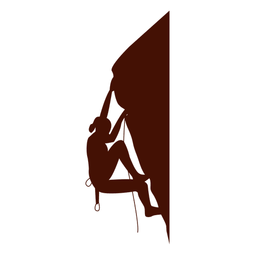 Climbing edge wall silhouette Transparent PNG