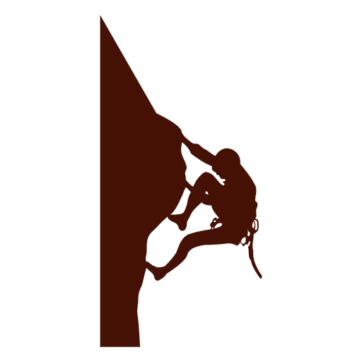 Climbing mountain extreme silhouette Transparent PNG