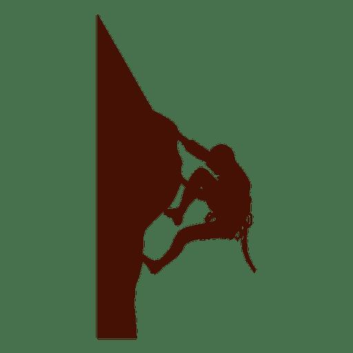 Climbing mountain extreme silhouette