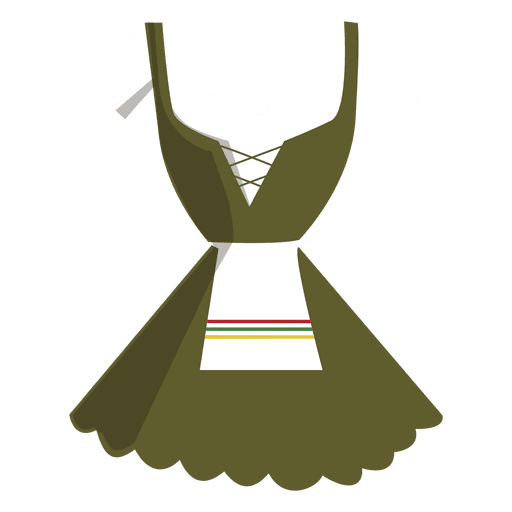 Dirndl typical german dress women Transparent PNG