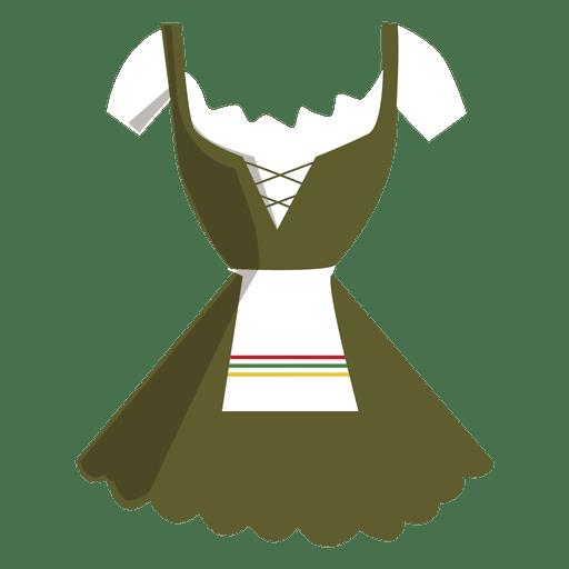 Dirndl vestido típico de las mujeres alemanas. Transparent PNG