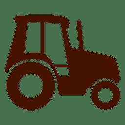Icono de transporte de camión de granja